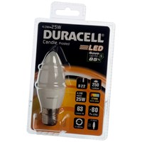 Duracell  LED Candle Light Bulb - 4W BC