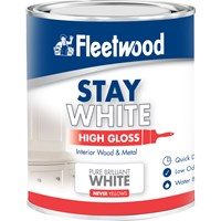 Fleetwood Stay White High Gloss Pure White Paint - 2.5 Litre