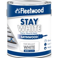 Fleetwood Stay White Satinwood Pure White Paint - 2.5 Litre