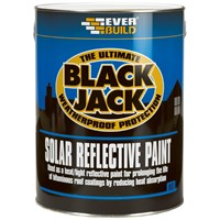 Everbuild Black Jack Solar Reflective Paint - 5 Litre