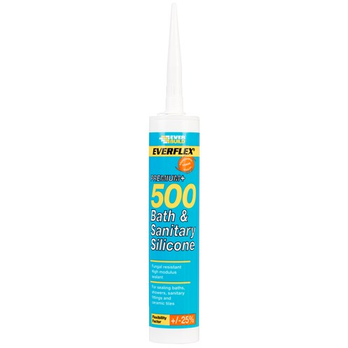 Everbuild  500 Bath & Sanitary Silicone 310ml - Translucent
