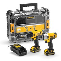Dewalt  DCZ211S2T Drill Driver & Impact Driver Twin Pack Kit - 10.8V
