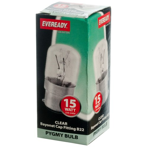 Eveready  Incandescent Clear Pygmy Light Bulb - 15W BC