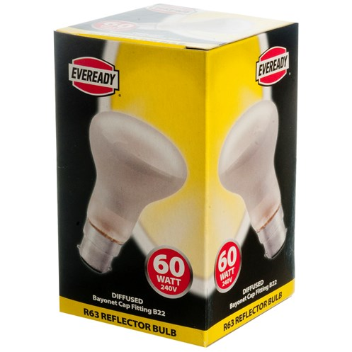 Eveready  Incandescent Reflector Light Bulb - 60W R63 BC