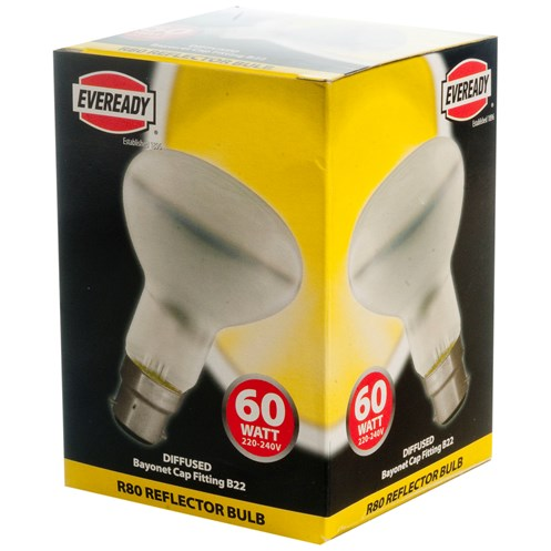 Eveready  Incandescent Reflector Light Bulb - 60W R80 BC