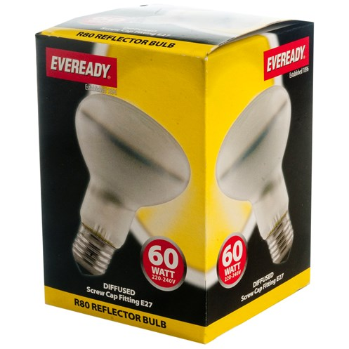 Eveready  Incandescent Reflector Light Bulb - 60W R80 ES