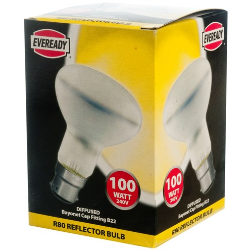 Eveready  Incandescent Reflector Light Bulb - 100W R80 BC