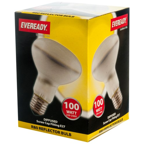 Eveready  Incandescent Reflector Light Bulb - 100W R80 ES