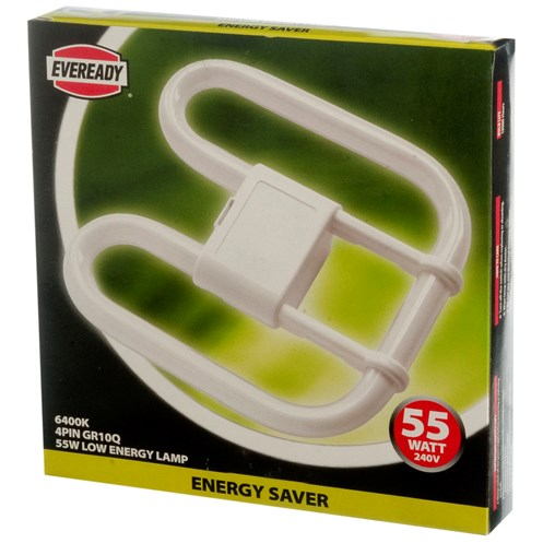 Eveready  CFL 2D 4 Pin Light Bulb - 55W