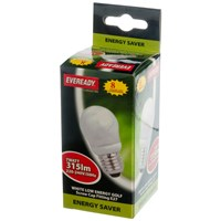 Eveready  CFL Golf Light Bulb - 7W ES