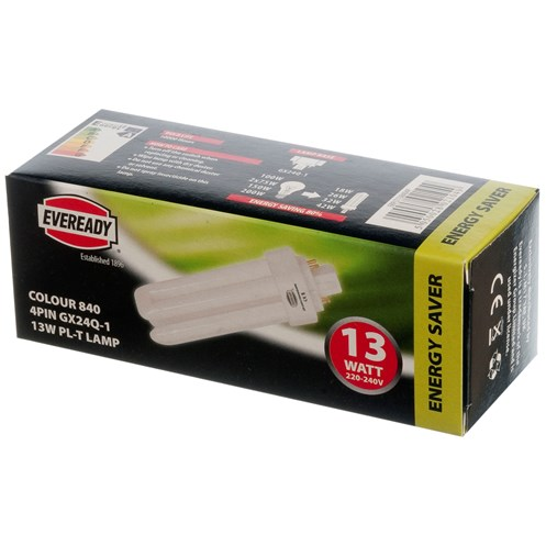 Eveready  Fluorescent 4 Pin Tube Light Bulb - 13W PL-T