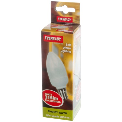 Eveready  CFL Mini Candle Soft Lite Light Bulb - 7W SBC