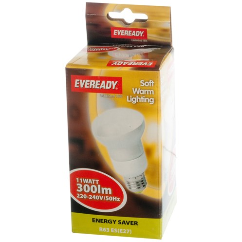 Eveready  CFL Reflector Soft Lite Light Bulb - 11W ES R63