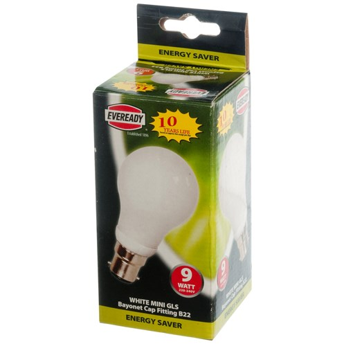 Eveready  CFL Mini GLS Light Bulb - 9W BC