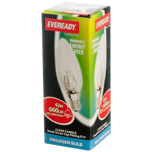 Eveready  Eco Halogen Candle Light Bulb - 42W SES