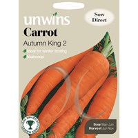 Unwins  Carrot Autumn King 2 Vegetable Seeds