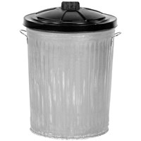 Galvanised Bin with Plastic Lid - 24in
