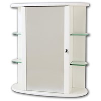 Tema  Trent Cabinet with Glass Shelves - White