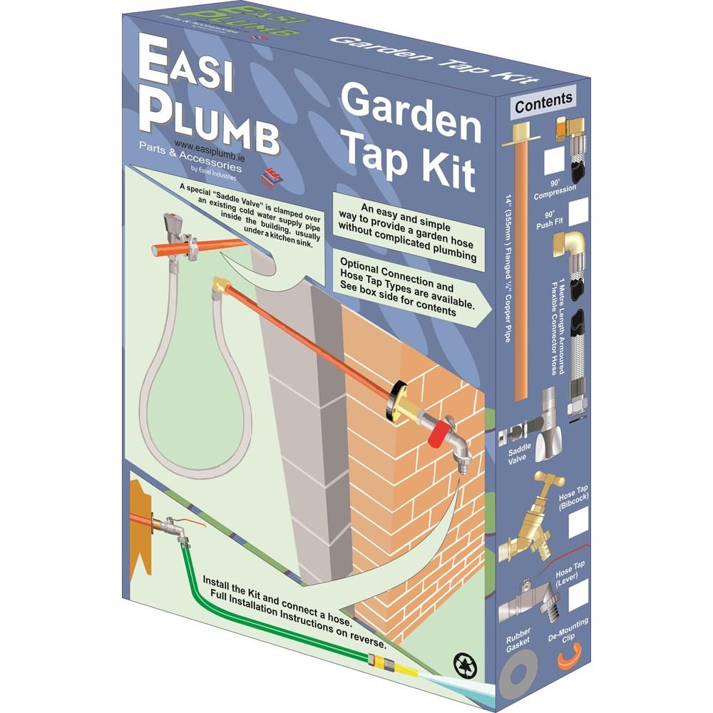Easi Plumb Garden Tap Kit Hoses Accessories Topline Rowes Kitchen Sink Water Line Plumbing Diagram
