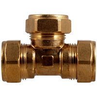 Mez Brass Compression 318 Equal Tee Pipe Fitting