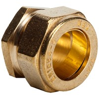 Mez Brass Compression 351 Stop End Pipe Fitting