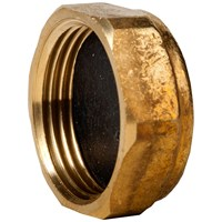 Mez Brass Compression 372 Blank Cap Pipe Fitting