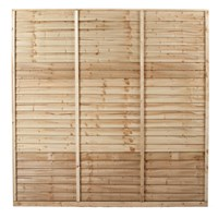 Independent Fencing  Shiplap Pressure Treated Fence Panel - 1800 x 1800mm