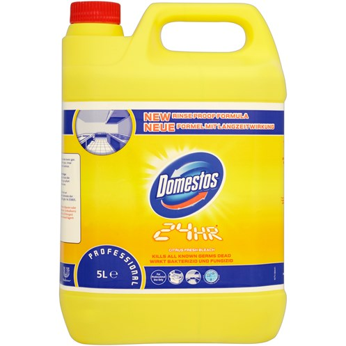 Domestos  24 Hr Citrus Fresh Bleach - 5 Litre