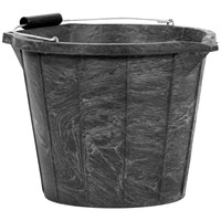Riaar Plastics  Heavy Duty Black Builders Bucket